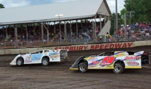 Rain stopped Saturday night's UMP DIRTcar Summernationals round at Fairbury American Legion Speedway in Illinois. (Gary Gasper photo)