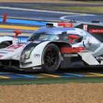 Andre Lotterer, Marcel Fassler and Benoit Treluyer drove the No. 2 Audi to the overall victory in the 24 Hours of Le Mans. (Pete Richards Photo)
