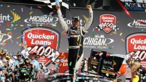 Jimmie Johnson won the Quicken Loans 400 at the Michigan Int'l Speedway in Brooklyn, Mich. on Sunday (Robert Benko photo)