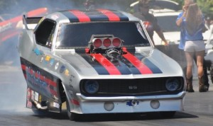 John Hale won Saturday's IHRA Prostalgia Funny Car event at Maryland Int'l Raceway. (IHRA photo)