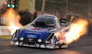 Robert Hight topped the NHRA Funny Car class during qualifying at New England Dragway Friday afternoon. (Harry Cella Photo)