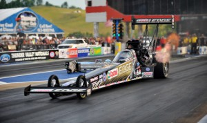 Brittany Force was the fastest qualifier in the NHRA Top Fuel class for the Ford NHRA Thunder Valley Nationals at Bristol (Tenn.) Dragway. (Rhonda Hogue McCole Photo)
