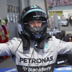 Nico Rosberg celebrates after his victory in the Austrian Grand Prix at the Red Bull Ring. (Steve Etherington Photo)