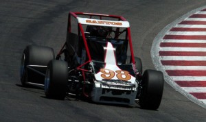 Bobby Santos held on to win Saturday's USAC Silver Crown Series feature at Gateway Motorsports Park. (Don Figler Photo)