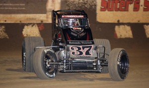 Jon Stanbrough won Sunday night's USAC sprint car race at Wisconsin's Angell Park Speedway. (Jeff Arns photo)