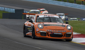 Colin Thompson completed a sweep of the Porsche GT3 Cup Challenge USA events at Watkins Glen (N.Y.) Int'l Saturday. (Scott LePage/LAT Photo)