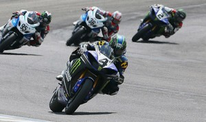 Josh Hayes (4) completed a weekend sweep of the AMA Superbike events at Barber Motorsports Park in Leeds, Ala., on Sunday. (Brian J. Nelson Photo)