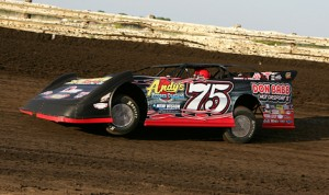 Terry Phillips drove to victory in Friday's Lucas Oil MLRA feature at Lee County Speedway in Iowa. (Mike Ruefer Photo)