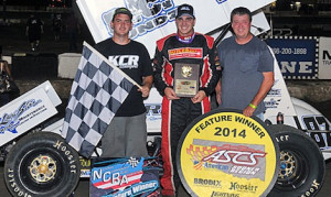 Aaron Reutzel won Sunday's co-sanctioned NCRA/ASCS sprint car feature at 81 Speedway in Kansas. (TWC photo)
