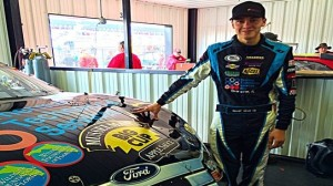 Mason Mitchell will drive a Musselman's sponsored car this weekend in Pocono, Pa. (MMM photo)