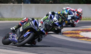 Cameron Beaubier (2) leads teammate Josh Hayes during Saturday's AMA Pro Superbike event at Road America. (Brian J. Nelson Photo)