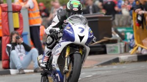 Gary Johnson sped to victory in the Isle of Man TT. (IOM photo)