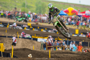 Blake Baggett picked up his first overall 250 class victory during Saturday's Lucas Oil Pro Motocross Championship event at Thunder Valley MX Park. (Simon Cudby Photo)