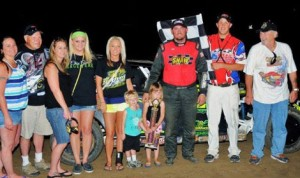 Chad Clancy rolled to victory in USRA Iron Man Challenge B-Mod competition Wednesday at Valley Speedway. (John Lee Photo)