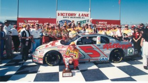 Terry Labonte won NASCAR's penultimate race at North Wilkesboro (N.C.) Speedway in April 1996. (NASCAR photo)