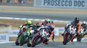 Marco Melandri was the big winner in Race One at Laguna Seca on Sunday. (SBK photo)