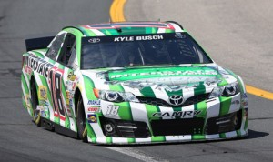 Kyle Busch set a track record en route to winning the pole for Sunday's Camping World RV Sales 301 at New Hampshire Motor Speedway Friday afternoon. (HHP/Harold Hinson Photo)