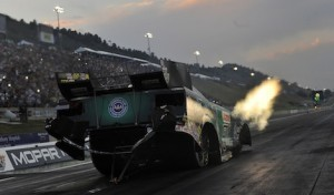 John Force was the No. 1 Funny Car qualifier Friday at Bandimere Speedway. (NHRA photo)