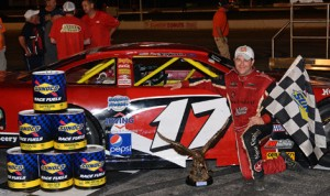 Travis Benjamin won the Oxford 250 for the second year in a row Sunday at Oxford Plains Speedway. (Norm Marx Photo)