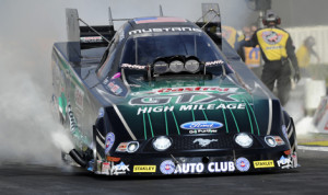 John Force, seen here earlier this season, earned his third NHRA Funny Car victory of the year Sunday at Pacific Raceways. (NHRA Photo)