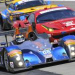 A pack of cars battle for position during Sunday's TUDOR United SportsCar Championship race at Watkins Glen Int'l. (Dennis Bicksler Photo)