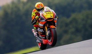 Aleix Espargaro lead both MotoGP practice sessions Friday at the Sachsenring in Germany. (MotoGP Photo)