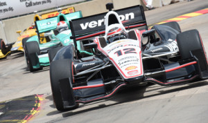 Will Power currently holds the Verizon IndyCar Series championship lead at the halfway point in the 2014 season. (Al Steinberg Photo)