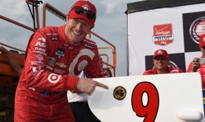 Scott Dixon will start from the pole for Saturday's Verizon IndyCar Series event at Iowa Speedway. (Al Steinberg Photo)