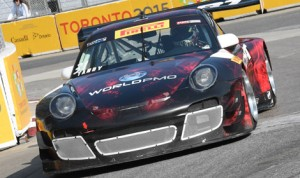 Nick Tandy earned the pole in the GT class for Saturday's Pirelli World Challenge event in Toronto. (Al Steinberg Photo)