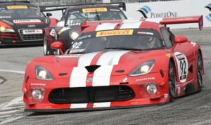 Kuno Wittmer captured the GT class victory in Sunday's Pirelli World Challenge event in Toronto. (Al Steinberg Photo)