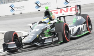 Sebastien Bourdais drove to victory in the first of two Verizon IndyCar Series events Sunday in Toronto. (Al Steinberg Photo)