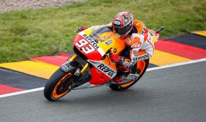 Marc Marquez scored his seventh MotoGP pole of the 2014 season Saturday at the Sachsenring in Germany. (MotoGP Photo)
