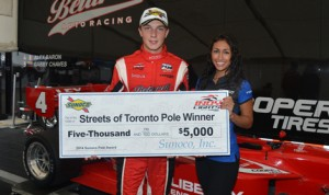 Alex Baron earned his first Indy Lights pole Saturday in Toronto. (Indy Lights Photo)