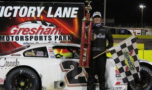 Anderson Bowen bested Daniel Hemric to claim Saturday's Southern Super Series event at Gresham Motorsports Park in Georgia. (Speed51 Photo)