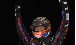 Bryan Clauson picked up his second Indiana Sprintweek victory Friday at Bloomington Speedway. (David E. Heithaus photo)