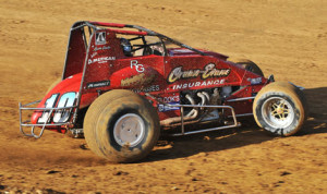 Jerry Coons Jr. on track at Lincoln Park Speedway Friday afternoon. (Gene Crucean Photo)