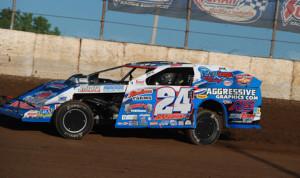 Mike Harrison Thursday at LaSalle (Ill.) Speedway. (Rocky Ragusa Photo)