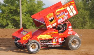 Randy Hannagan topped Saturday's Engine Pro Sprints on Dirt feature at Crystal Motor Speedway. (T.J. Buffenbarger Photo)