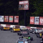 The NASCAR Whelen Modified Tour field during Saturday's event at Monadnock Speedway. (NASCAR Photo)