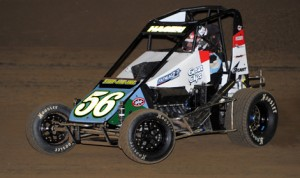 Darren Hagen won Friday's POWRi Lucas Oil National Midget Series race held at Belle-Clair Speedway. (Don Figler Photo)