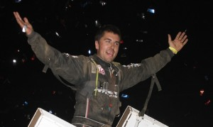 David Gravel won Sunday night's World of Outlaws STP Sprint Car Series race at New York's Lebanon Valley Speedway. (Dick Ayers photo)