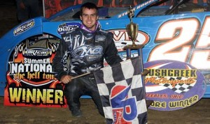 Mason Zeigler won Thursday's DIRTcar Summer Nationals event held at Brushcreek Motorsports Complex. (Jim DenHamer Photo)