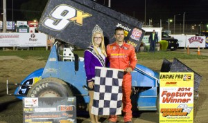 Rob Chaney won Saturday's 410 sprint-car feature at Ohio's Fremont Speedway. (Fremont Speedway Photo)