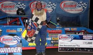 Brian Ruhlman won Saturday's DIRTcar Summit Racing Equipment Modified Nationals event at Oakshade Raceway. (Jim DenHamer Photo)