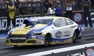 Allen Johnson claimed victory in the NHRA Pro Stock Sunday at Bandimere Speedway. (Don Holbrook Photo)