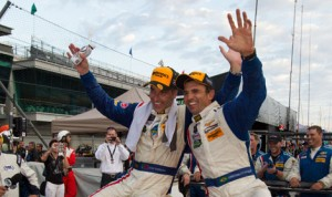 Joao Barbosa and Christian Fittipaldi captured the Brickyard Grand Prix Friday at Indianapolis Motor Speedway. (Ted Rossino Jr. Photo)