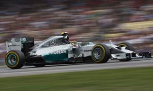Nico Rosberg led every lap en route to winning Sunday's German Grand Prix. (Steve Etherington Photo)