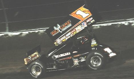 Sammy Swindell won Friday's World of Outlaws STP Sprint Car Series race at Eldora Speedway. (Julia Johnson photo)