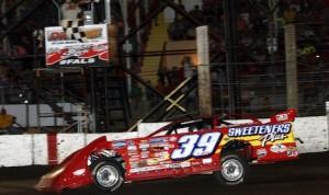 Tim McCreadie won Saturday's Prairie Dirt Classic at Fairbury American Legion Speedway. (Jim Denhamer photo)