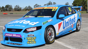 The United Petroleum supported Falcon that Paul Morris will race in the Dunlop V8 Supercar Series. (United Petroleum photo)